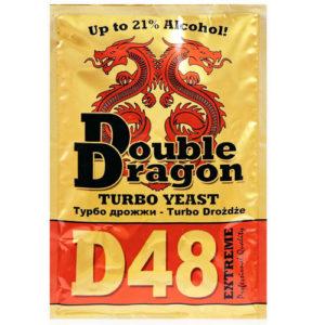 Спиртовые турбо дрожжи DoubleDragon D48 Turbo